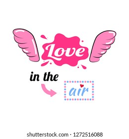 on the wings of Love. Background. Wallpaper
