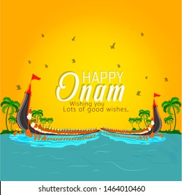 Onam festival for South India Kerala traditional celebration, Boat race