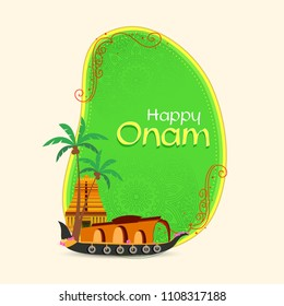 Onam, Illustration of colorful Kathakali dancer face,  grungy colourful background for Onam celebration.