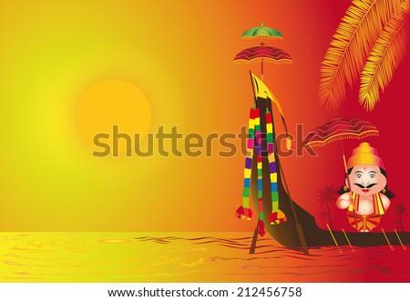 Onam Thoni Maveli Stock Vektorgrafik Lizenzfrei 212456758