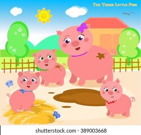 Once upon a time there was a mother pig with three little pigs