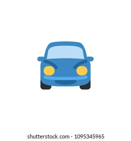 Oncoming car. Automobile, car front side view vector illustration flat icon symbol cartoon style emoji pictogram