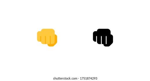 Oncoming fist vector flat icon. Isolated fist emoji illustration