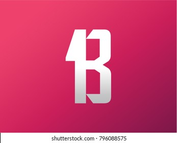 One and B letter vector logo