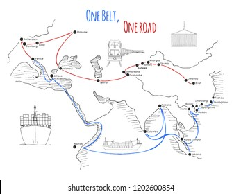 photograph regarding Silk Road Map Printable known as Silk Highway Shots, Inventory Pics Vectors Shutterstock