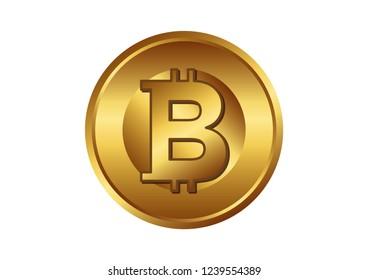 One bitcoin illustration