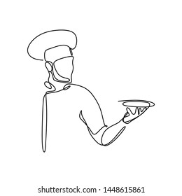 One chef draws a continuous line showing the chef's symbol.