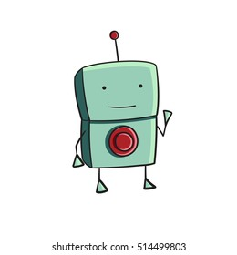 One Choice Green Doodle Robot
