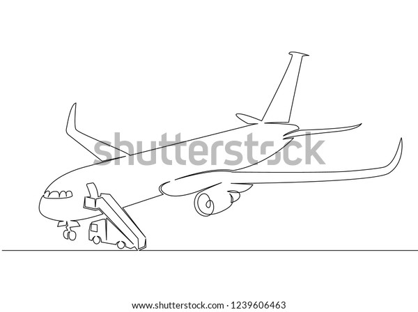 One Continuous Drawn Single Art Line Stock Vector (Royalty