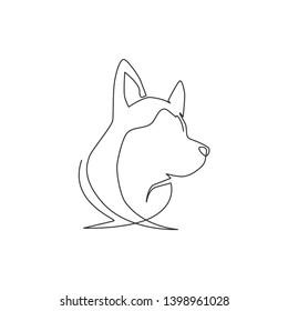 One Line Dog Stock Vectors, Images & Vector Art | Shutterstock