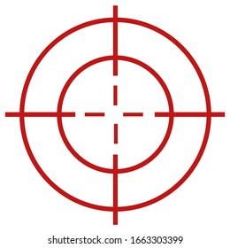 one crosshair isolated on white