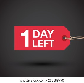 one day left to go sign