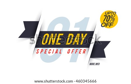 one day special offer sale upto のベクター画像素材 ロイヤリティ