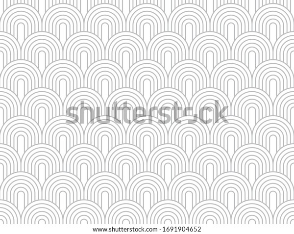 One directional circular arc vector in a subtle pearl river shade