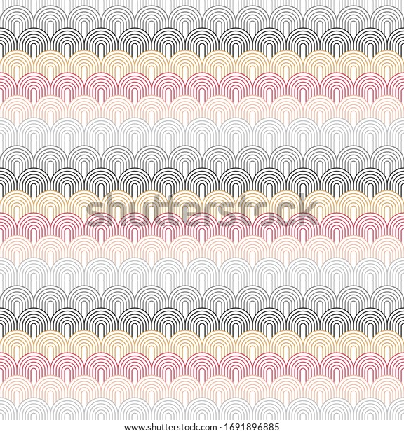 One directional pattern with color combinations of black, pearl river, cerise and canary