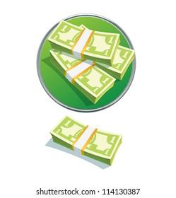 one dollar stack. Vector illustration. vector  money stack dollar