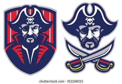 one eye pirate mascot