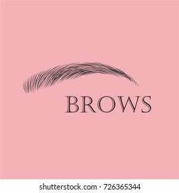 One eyebrow. Beauty logo.