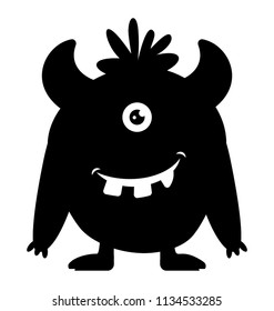 A one eyed  monster with horns, zazzle monster