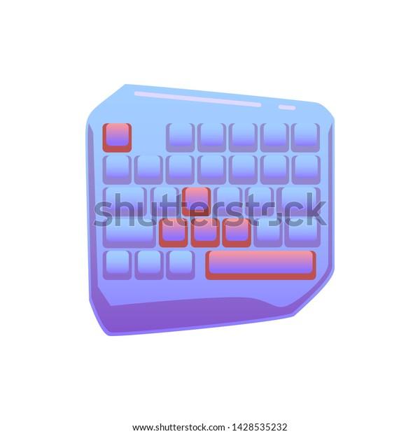 One Hand Gaming Keyboard Gaming Keypad Stock Vector (Royalty Free