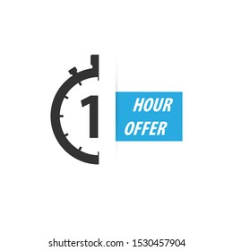 One hour offer with stopwatch