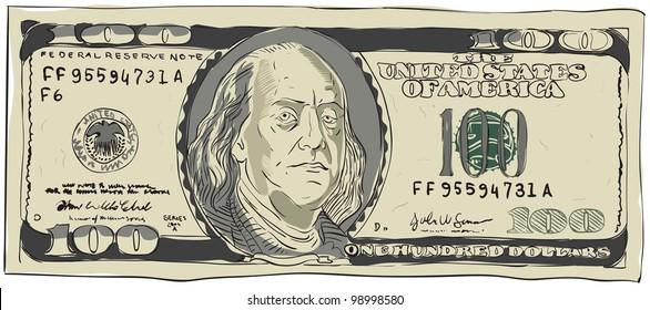 Cartoon Dollar Bill Images, Stock Photos & Vectors