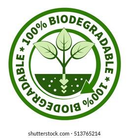 One hundred percent biodegradable label.