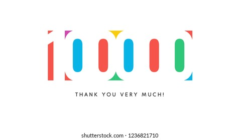 One hundred thousand subscribers baner. Colorful logo for anniversary day.