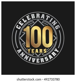 One hundred years anniversary celebration logotype. Diamond Celebrations.