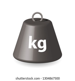 one kg weight, 3d like vector