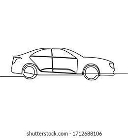 one line continuous drawing car cadillac