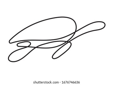 one line drawing art turtle logo style. mono line turtle logo. simple and modern style. continuous line turtle