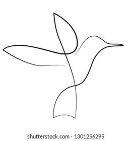 one line drawing bird