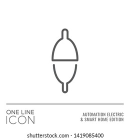 One Line Icon Series - Fishing Buoy or Floater Sign as Level Switch or Relay Flat Outline Stroke Style Symbol in House Automation Electric and Smart Home Edition - Vector Pictogram Graphic Design