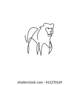 Line Drawing Lion Images Stock Photos Vectors Shutterstock This time however, draw the mane with a ragged. https www shutterstock com image vector one line lion design silhouette hand 411270169