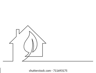 one line logo design of Energy Technologies Solutions Home Improvement