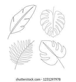 Palm Fronds Line Art Images Stock Photos Vectors Shutterstock Your favourite piece from our refreshed classic collection? https www shutterstock com image vector one line tropical leaves design silhouette 1231297978