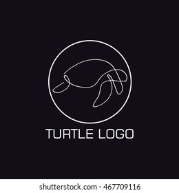 One line turtle logo for your company