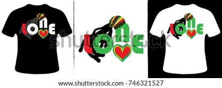 One love TShirt Design