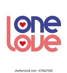 One love typography. One love logotype.