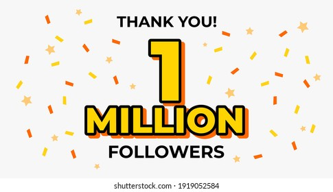One Million Follower Popular Web Banner Template Design Vector