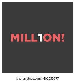 One million vector text concept art