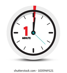 One Minute Clock Icon