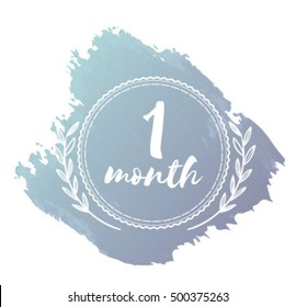 One month baby sticker