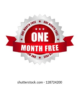One month free button
