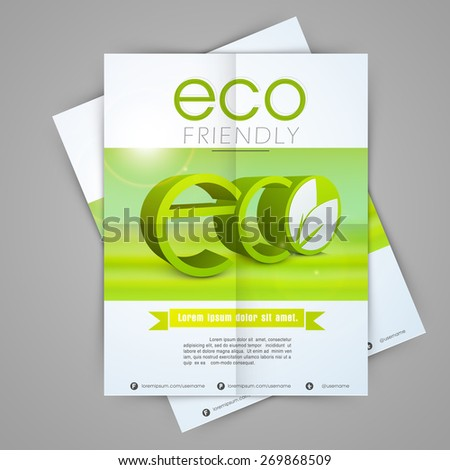 one page flyer design ecology nature stock vector royalty free