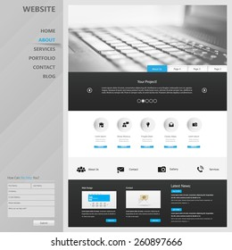 One page website design template. All in one set for website design that includes one page website template.