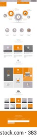 One page website design template. Vector