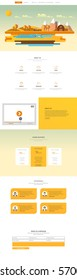 One Page Website Design Template in Professional Vector Design,