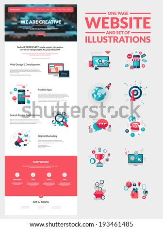 one page website design template all stock vector royalty free